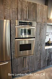 Reclaimed Barn Wood Kitchen Cabinets Salvaged Barn Wood Used To Reface Ikea Cabinets Rustic Custom