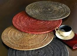 placemats for round table wicker table mats table mats round table mats large wicker placemats