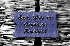 The Best Ways To Organize - the best way to organize receipts toughnickel
