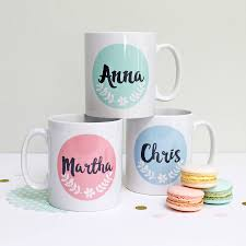 personalised pastel colours floral mug by love give ink