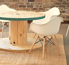 outdoor tables made out of wooden wire spools wire spool table
