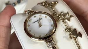 anne klein bracelet gold images Anne klein women 39 s ak 2840lbdt swarovski crystal accented gold jpg