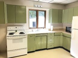 vintage metal kitchen cabinets signature vintage metal kitchen cabinets avocado green with