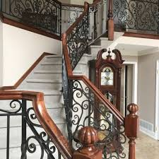 Iron Handrails For Stairs Custom Made To Order Ornamental Metal Railings And Enclosures