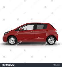 volkswagen beetle side view generic hatchback car on white side stock illustration 574364797