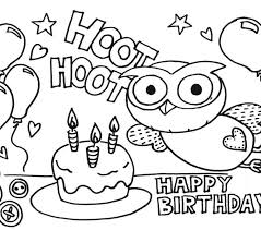 happy birthday coloring cards kids coloring pages birthday cake