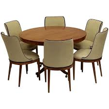 art deco dining table and six chairs art deco small dining