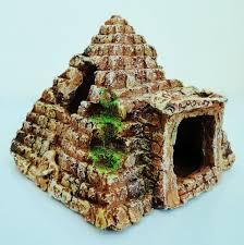 fish tank pyramid ornament aquarium decorations
