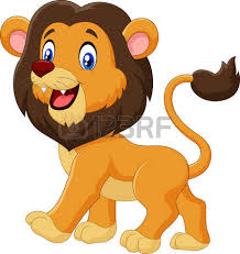 vector illustration adorable cartoon lion walking isolated