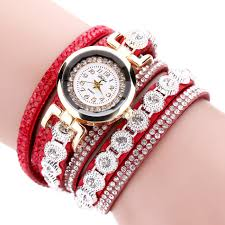 ladies bracelet wrist watches images Duoya brand women bracelet watch 2016 crystal round dial luxury jpg