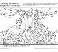 coloring pages adam and eve people disobeyed god bible coloring pages for kids