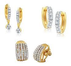 trendy gold earrings youbella combo of trendy gold plated hoop earrings for women