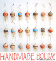 funnelcloud handmade modern painted wood ornaments