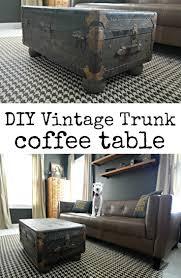 vintage trunk turned coffee table vintage trunks easy diy