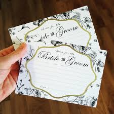 Advice To The Bride Cards 10x Advice For The Bride U0026 Groom Cards Black White U0026 Gold