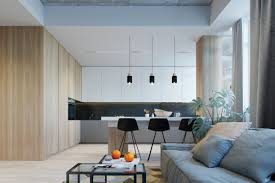 small modern open plan kitchen small modern apartment design applying with a coloring and neutral