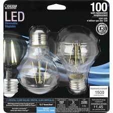 100w clear incandescent light bulb feit electric 100w equivalent general purpose clear daylight a19