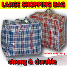 shopping carrier bag laundry rugged strong zipped plastic pvc