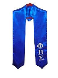 graduation stoles royal blue satin graduation stole w letter embroidery