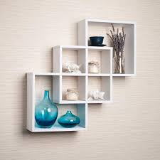 Decorative Shelves Home Depot by Danya B Contempo 23 5 In W X 23 5 In H White Laminated Mdf