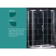 cotswold volente single door offset quadrant shower enclosure