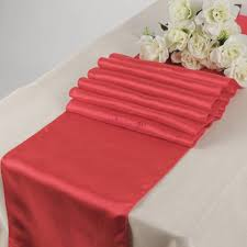 cheap coral table runners wholesale coral wedding banquet satin table runners for sale