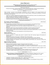 Resume Samples Normal by Sample Finance Resume Free Resume Example And Writing Download