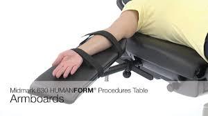 midmark 630 procedure table midmark 630 humanform procedures table armboards youtube