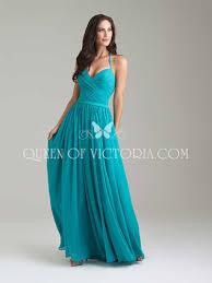 halter v neck beautiful pleated blue chiffon long bridesmaid dress