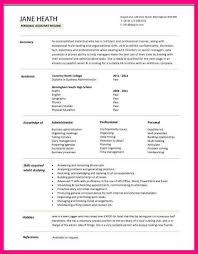 Template For First Resume 14 Student Cv Template For First Job