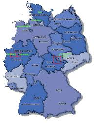 map of germany with states and capitals germany maps