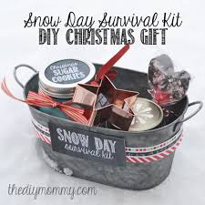 christmas gift baskets make a snow day survival kit christmas gift the diy