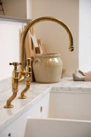 cheap kitchen faucet found the perfectly aged brass kitchen faucet remodelista