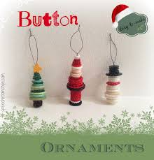 Easy Christmas Crafts 8 Button Ornaments Speech Room Style
