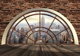 new york city skyline window photo wallpaper mural 2397wm new york city skyline window photo wallpaper mural 2397wm