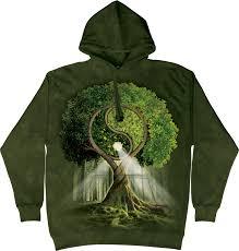 the mountain unisex yin yang tree nature hoodie something