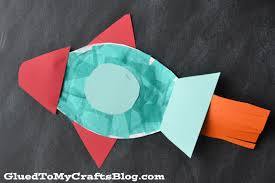 paper plate rocket kid craft