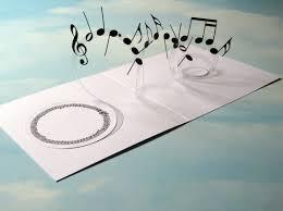 musical cards card spiral pop up musical notes 3d card handmade