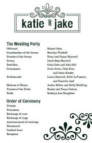 Traditional Wedding Program Traditional Wedding Program Template Wedding Programs
