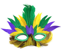 mardi mask mardi gras feathered mask