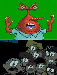 Nickelodeon Memes - loud siblings scared of moar krabs the loud house pinterest