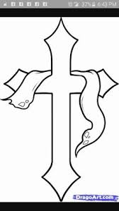 easy to draw cross designs how to draw a and cross