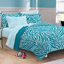 Zebra Bed Set Aqua Blue Zebra Bedding Xl Comforter Set