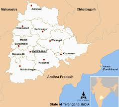 Hyderabad India Map by Travel India