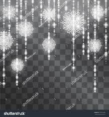 snowflake garland silver light tinsel light stock vector 765767698