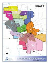 Map Of Fresno Stockton U0027s Draft General Plan Neighborhood Map A Return To