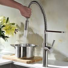 touch kitchen sink faucet high arch touch on pull out pull down sprayer spring kitchen sink