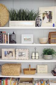 before and after traditional bookshelves get a fresh update