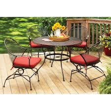 Patio Furniture Wrought Iron Dining Sets - walmart better homes and gardens clayton ct 5 piece dining set