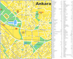 ankara on world map ankara tourist map